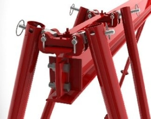 Steel and Aluminum Portable Gantry Cranes | Wallace Cranes