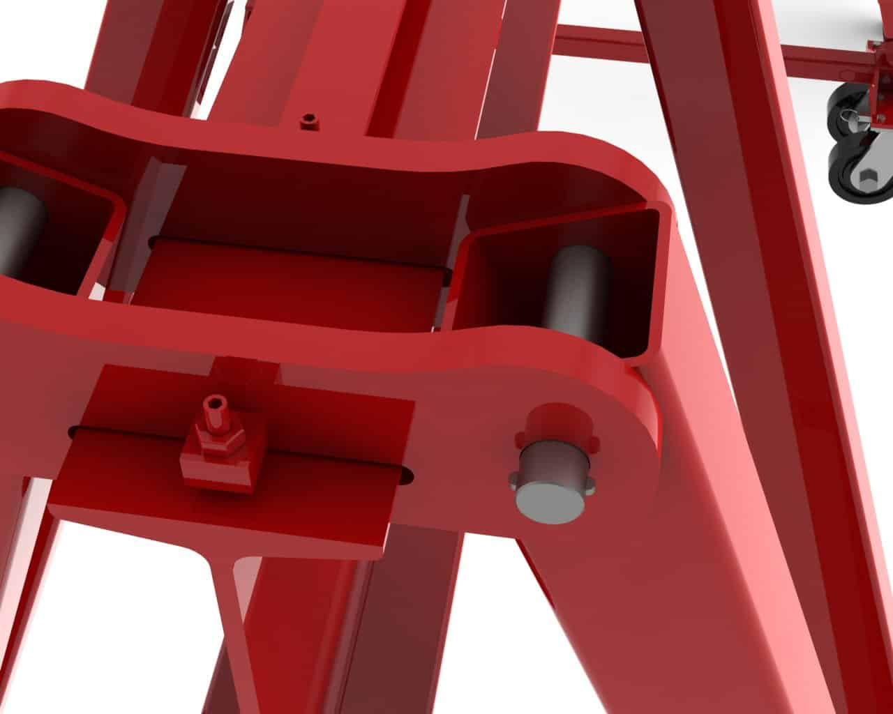 Joint Detail of the Four Bar Link Design | Wallace Cranes