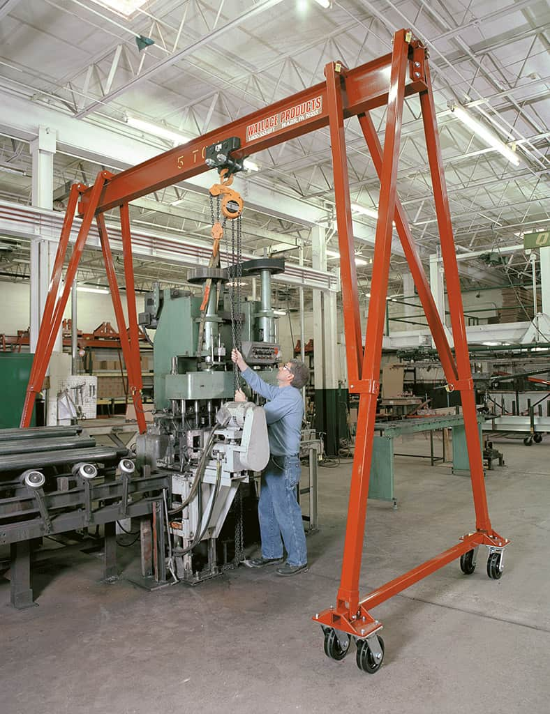 Hippolift Steel Fixed-Height Portable Gantry Crane from Wallace Cranes