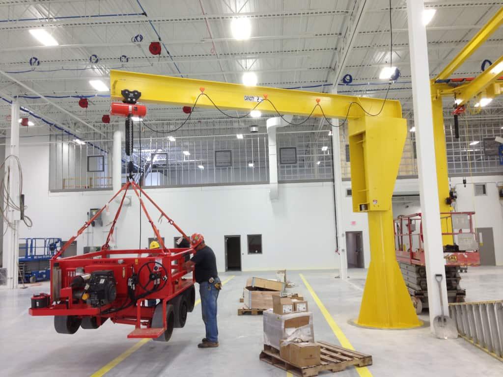 wall and floor mounted jib cranes | Free-Standing Jib Cranes | Wallace Cranes