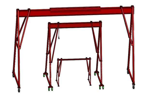 How To Buy a Crane - Nested A-Frame Cranes | Wallace Cranes