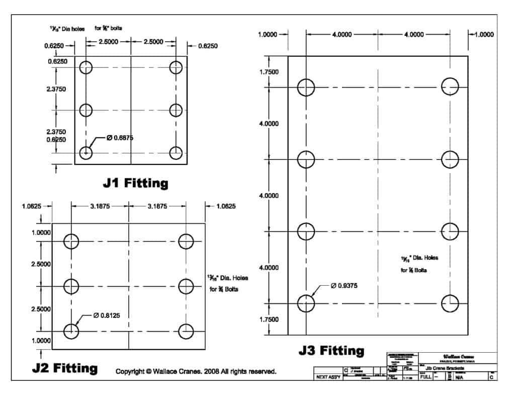Jib Crane Fitting Kits   Wallace Cranes